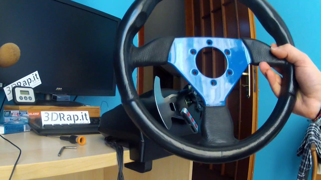 G25 / G27 Logitech Wheel Adapter + buttons - by 3DRap it