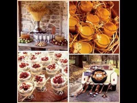 DIY Fall wedding  party decorations