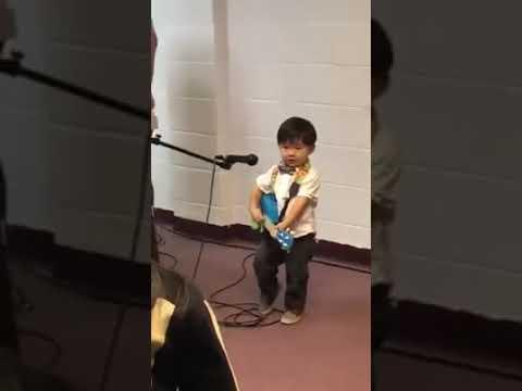 Cute ba boy sings Christian song 10,000 reasons