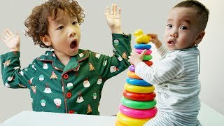 Colors Song - Baby Nursery Rhymes Learn Colors for kids with Stacking Rings