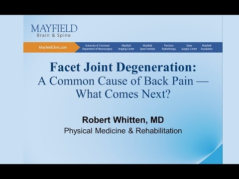 Facet Joint Degeneration/Arthritis: A Common Cause Of Back Pain...What Comes Next?