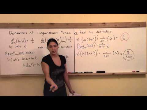 Math 148 W8: Logarithmic Derivative Examples
