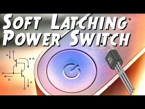 Push on Push off Switch Circuit - Latching Circuit Diagram