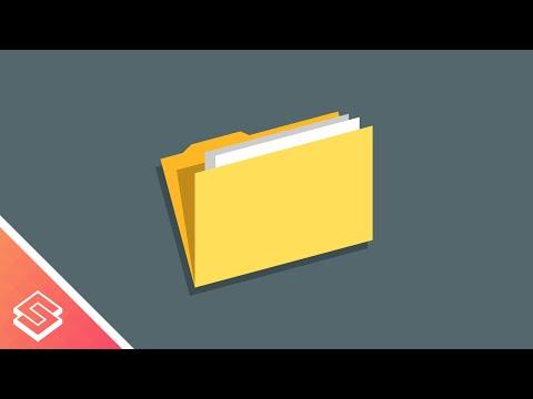 Inkscape Beginner Tutorial: Simple Folder Icon