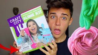 TESTING KARINA GARCIA'S SLIME KIT! How to make clear slime! Review On Karina Garcia Slime Kit!