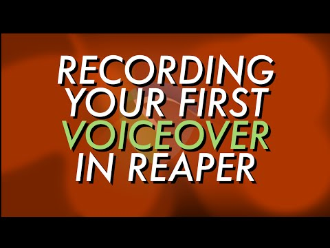 Record Your First Voiceover in Reaper