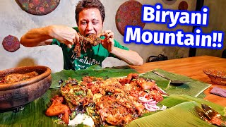 Extreme Malaysian Food!! BIRYANI MOUNTAIN + Smoked Goat Leg - Unseen Eating Experience!!