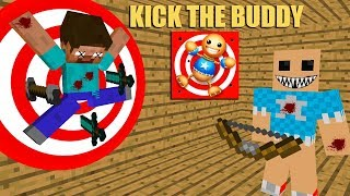 Monster School: KICK THE BUDDY CHALLENGE- Minecraft Animation
