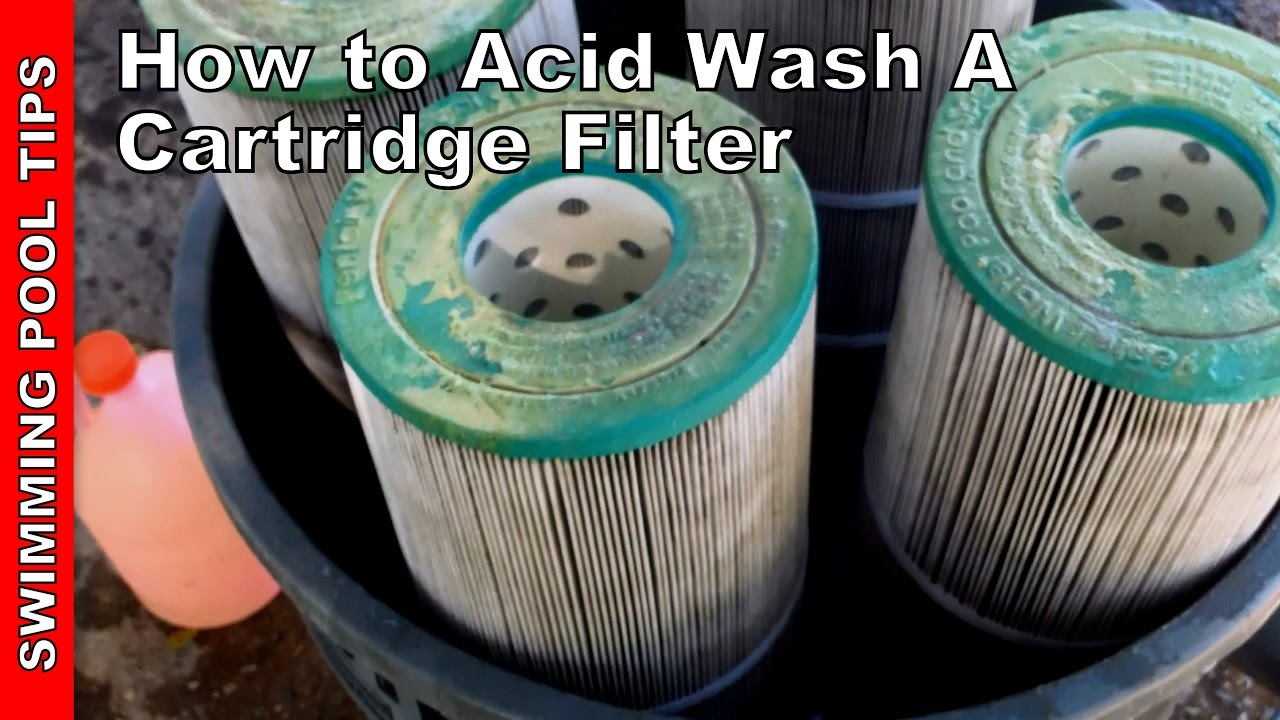 How To Acid Wash A Cartridge Filter Youtube