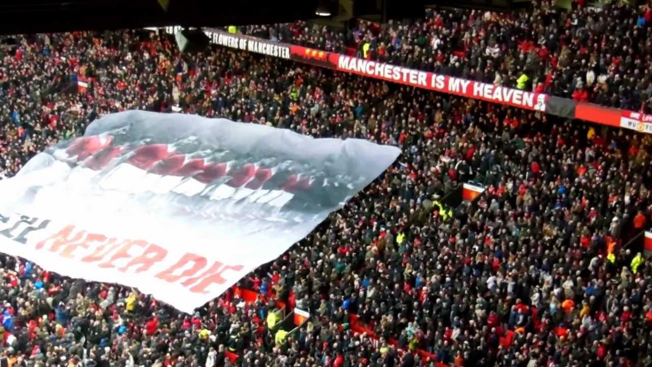 Manchester United Stretford End Busby Babes Surfer Flag