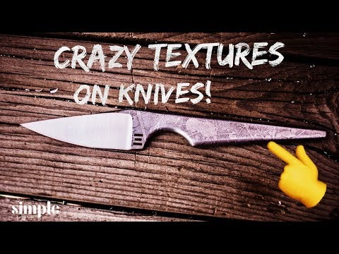 Electro-etching Texture onto Knives (or any steel)