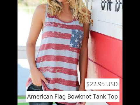 American Flag | Ladies Tank Top | Clothes Shopping Online