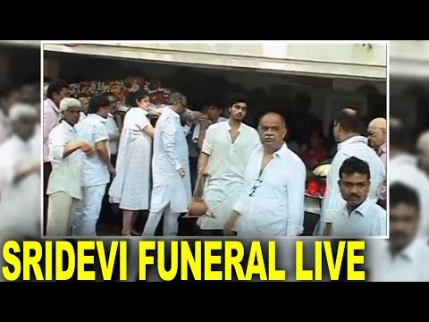 Sridevi Funeral Live from Mumbai |Boney Kapoor |Arjun Kapoor
