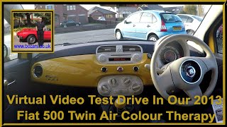 Virtual Video Test Drive In Our Fiat 500 Twin Air Colour Therapy