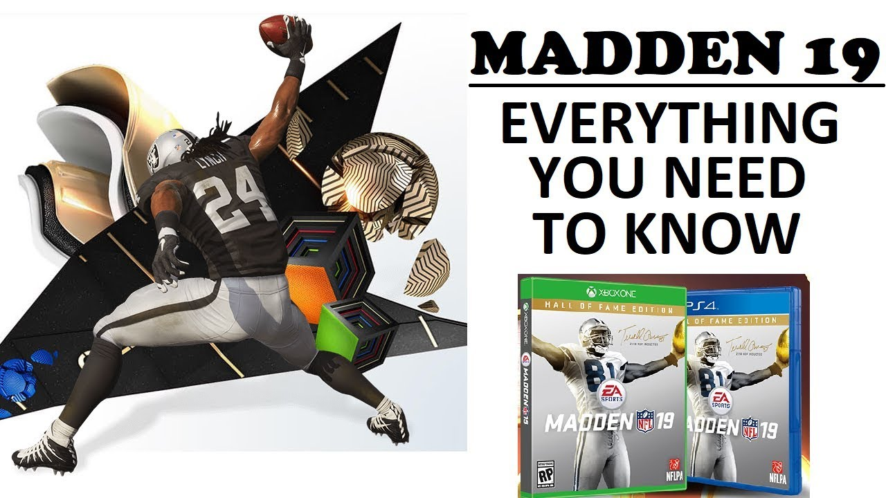 MADDEN 19 NEWS - NEW RUNNING MECHANICS, SOLOS, RELEASE DATE AND ENHANCED  CONTROLS