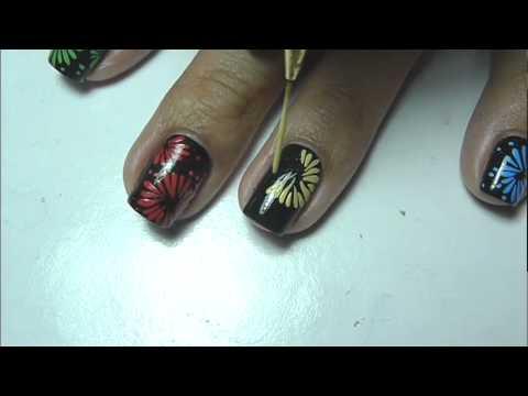 fireworks nail art tutorial
