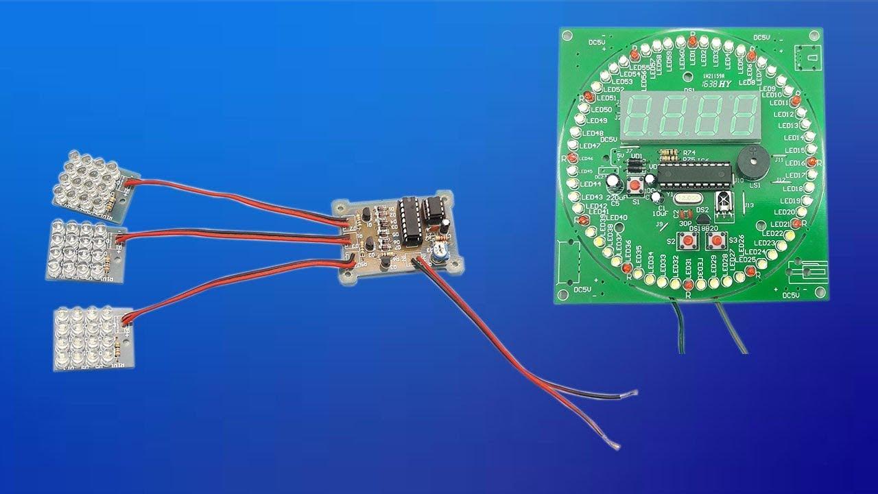 Circuito Led Intermitente : Armado de circuito led intermitente y reloj electrónico