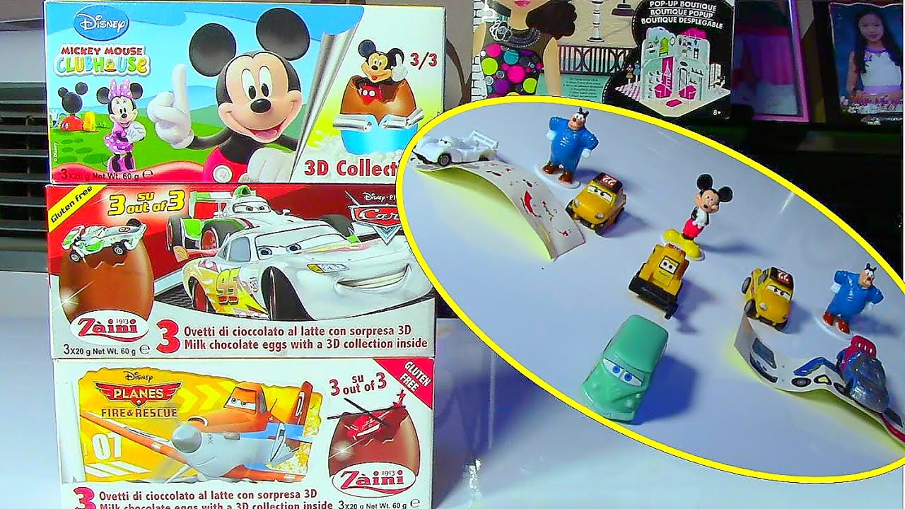 Zaini Surprise Eggs Disney Mickey Mouse Clubhouse Disney Planes Disney Cars Egg Surprise