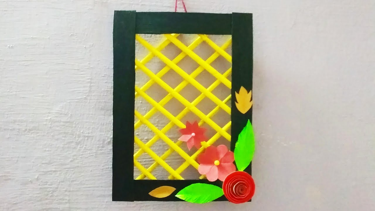 Diy wallhanging with newspaper / wall decor idea with paper / Diy ...
