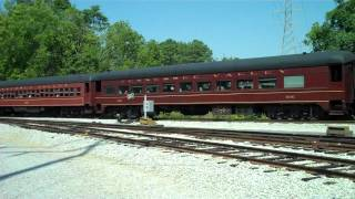 Chattanooga Norfolk & Western 1829 Diesel Train pulling out of station