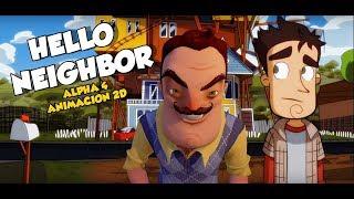 HELLO NEIGHBOR ALPHA 4 -ANIMACIÓN 2D - Raysther animations