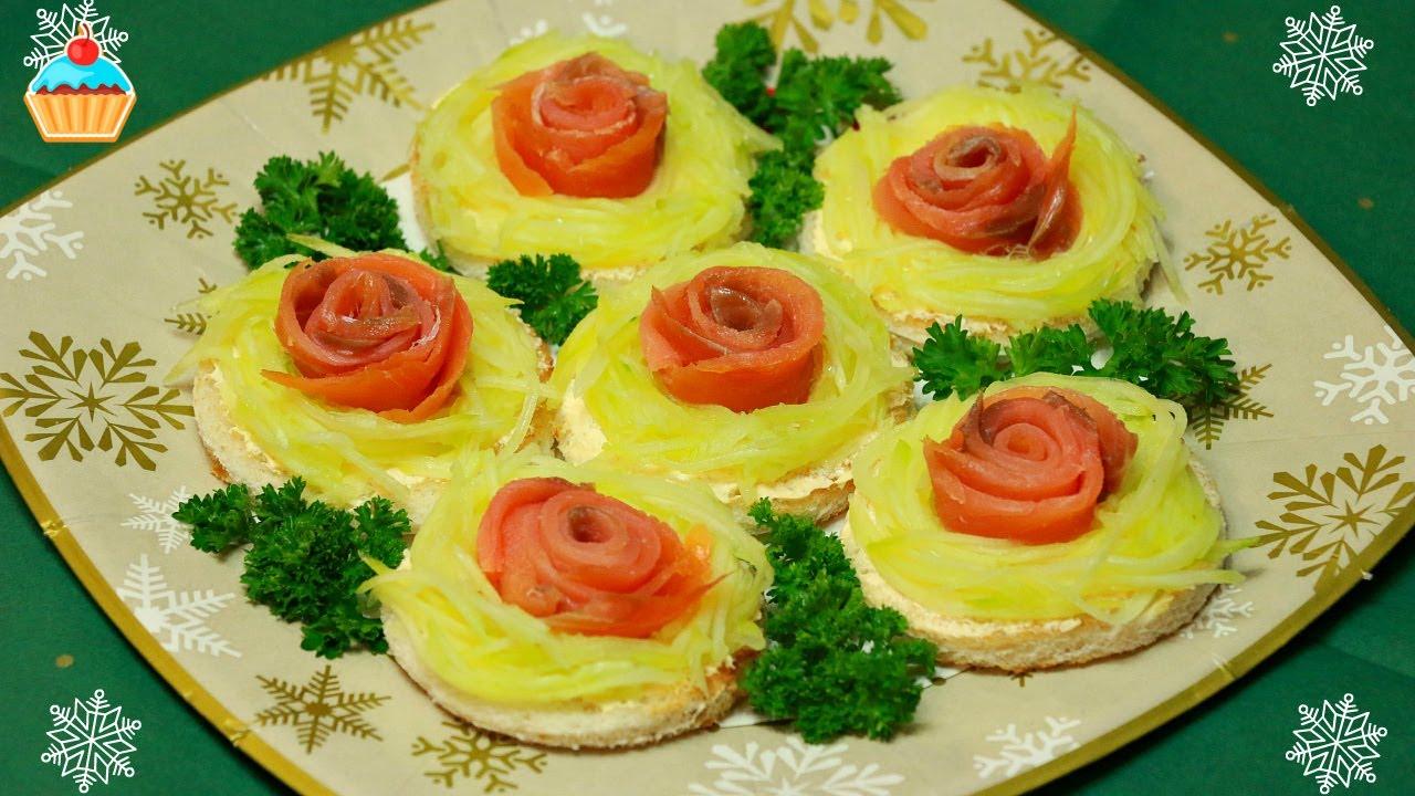 красивые бутерброды с красной рыбой фото