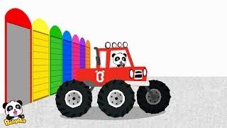 モンスタートラックで色を学ぶ  |  赤ちゃんの幼児、子供、子供の色の編集を学ぶ | 赤ちゃんが喜ぶアニメ | 動画 | BabyBus