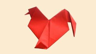 Петушок оригами