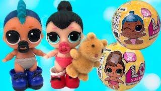 Куклы лол маленькие сестрички играют ДЕТСКИЙ САД Мультик про Игрушки СЮРПРИЗЫ | TOYS AND DOLLS