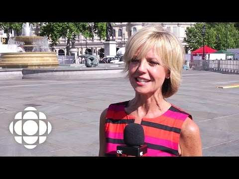 Heather Hiscox in Trafalgar Square for Canada Day | CBC Connects