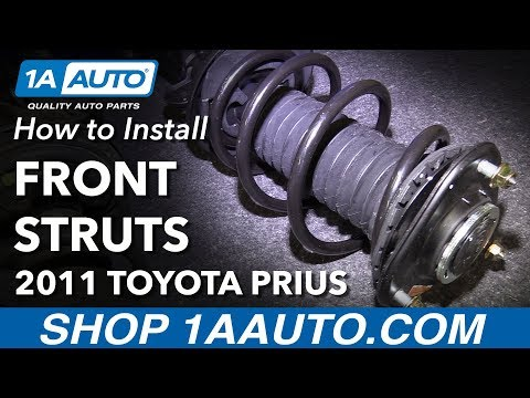 How to Install Replace Front Strut Spring Assemblies 2010-13 Toyota Prius