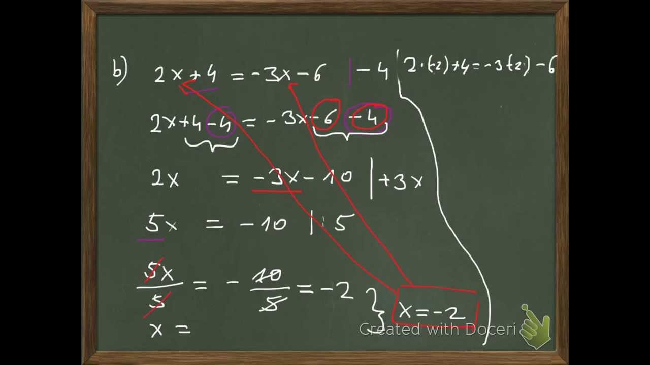 Gleichungen zusammenfassen und lösen (mit Probe) - YouTube