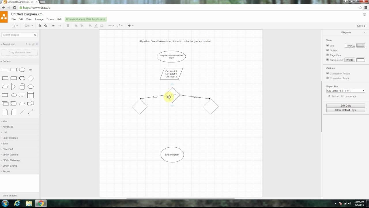 Line Drawing Algorithm Flowchart : Algorithms making flowcharts of youtube