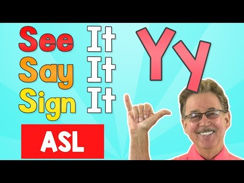 See it, Say it, Sign it   The Letter Y (Consonant)   ASL for Kids   Jack Hartmann