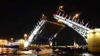 Развод мостов в Санкт-Петербурге 2015