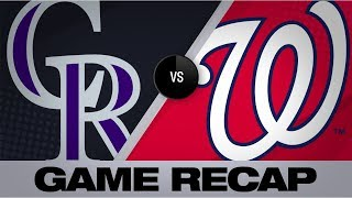 Rendon's HR in 7th leads Nats to Game 1 win | Rockies-Nationals Game Highlights 7/24/19