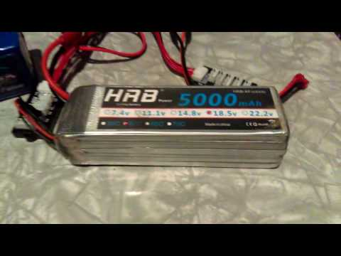 Unofficial Review Unboxing HRB LiPo battery 5000mah 50c 5s