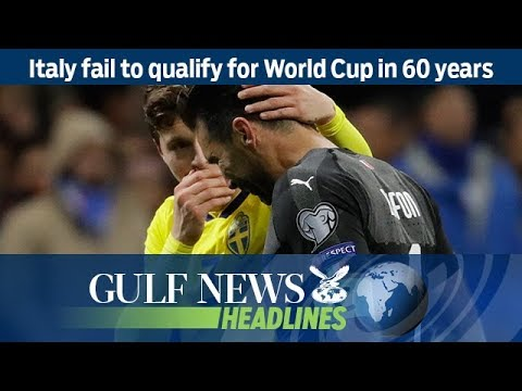Italy fail to qualify for World Cup in 60 years - GN Headlines