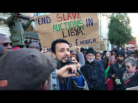 London protest against slavery in Libya