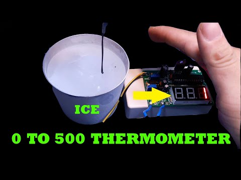 Home Make Thermometer  From 0 to 500 Degrees Celsius