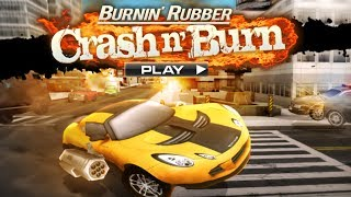 Burnin' Rubber Crash 'n Burn - Cool 3D car driving game