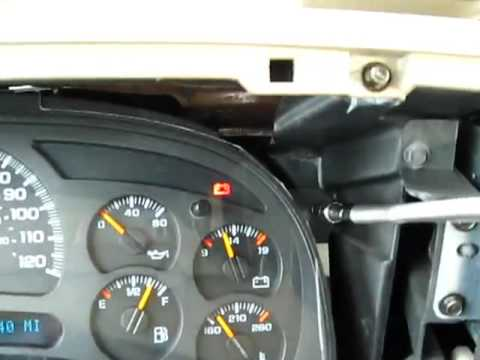 hqdefault 2004 chevy silverado speedometer removal youtube  at webbmarketing.co