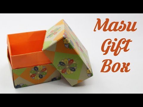 How to make Masu Gift Box, Easy Basic Simple Origami for Beginners Kids, Paper DIY Crafts Work Ideas