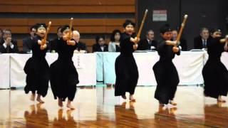 Kids Kendo demonstration at the Osaka Martial Arts Fair 2016