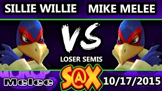 Fall Arcadian - Sillie Willie (Falco) Vs. Mike Melee (Falco) SSBM Losers Semis - Smash Melee