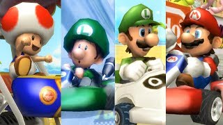 Mario Kart Wii - All Characters 2nd Place Animations