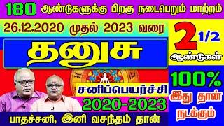 தனுசு ராசி சனிப்பெயர்ச்சி பலன்கள் 2020-2023   Dhanusu rasi sani peyarchi palangal 2020   2020 - 2023