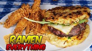 RAMEN BURGER AND RAMEN FRIES?! | RAMEN EVERYTHING