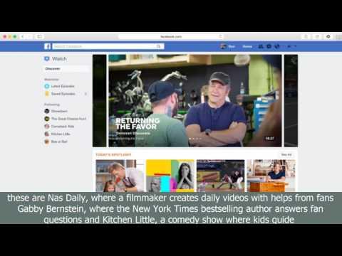 Facebook launches watch platform for original video