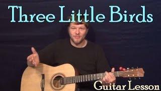 Three Little Birds - Don't Worry (Bob Marley) Easy Strum Guitar Lesson Chord Strum Tutorial